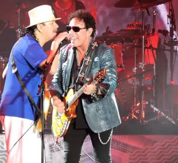 Santana and Journey photo by Adam Seuym